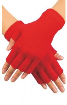 Guantes Rojos sin Dedos