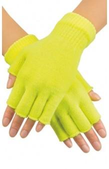 Guantes Amarillos sin Dedos