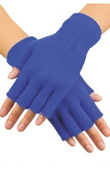Guantes Azules sin Dedos