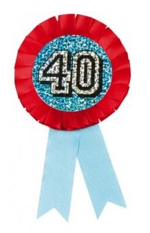 "Medalla ""40"" Holográfica"