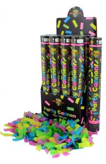 Cañón Confetti Fluorescente, 40 cm.