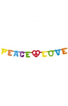 Guirnalda Letrero Peace & Love
