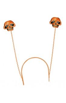 Diadema Antenas Calaveras (Brillo en la Oscuridad)