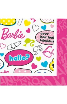Servilletas Barbie, 20 uds.