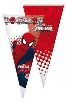 Bolsas Cono Spiderman, 10 uds.