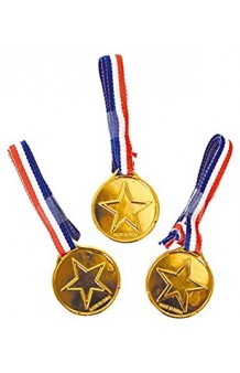 Set 3 Medallas Doradas