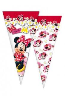 Pack 6 Bolsas Cono Minnie, 40 x 20 cm.