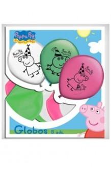 Globos Peppa Pig, 8 uds.