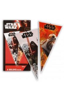 Pack 6 Bolsas Cono Star Wars, 40 x 20 cm.