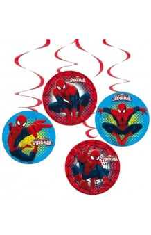 Kit 4 Colgantes Spiderman