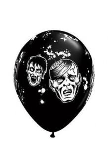 Globos Negros Zombies 28 cm., 5 uds.