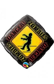 Globo Danger Zombies, 46 cm.