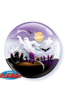 Globo Burbuja Cementerio Fantasmas, 56 cm.