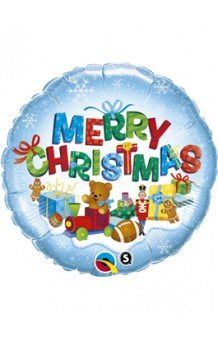 Globo Merry Christmas Presents, 46 cm.