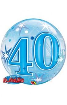 "Globo ""40"" Azul Burbuja, 56 cm. AGOTADO."