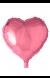 Globo Corazón Rosa, 46 cm.