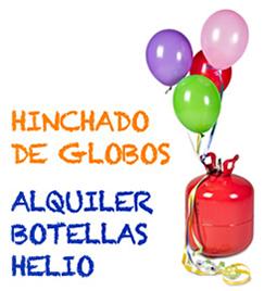 Hinchado de globos. Alquiler de máquina de helio. Festiplanet